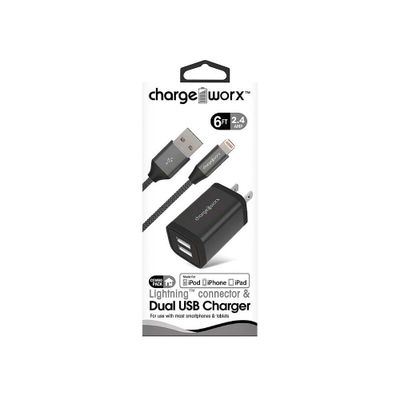 Cargador-USB-de-pared-doble---Cable-ligthning